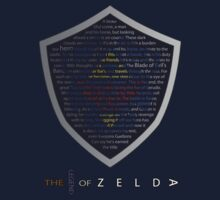 The Legend of Zelda Sheild Poem (Alternate) Kids Tee