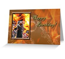 Birthday Fire Greeting Card