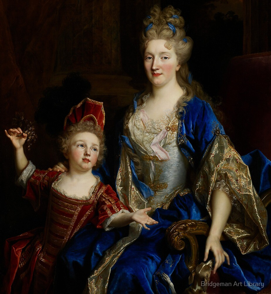 Portrait of Catherine Coustard, Marquise of Castelnau, with her Son Leonor, c.1699  by Bridgeman Art Library