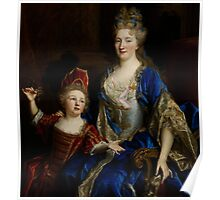 Portrait of Catherine Coustard, Marquise of Castelnau, with her Son Leonor, c.1699  Poster