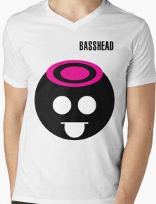 BASSHEAD Mens V-Neck T-Shirt