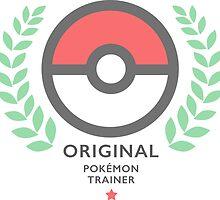 Original Pokemon Trainer - Pokeball Shirt by Gage White