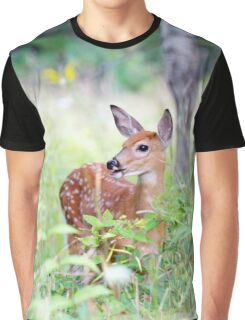 Once upon a Fawn - White Tailed Deer Fawn Graphic T-Shirt