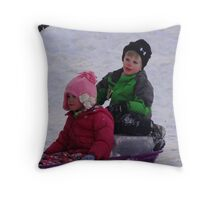 Can't you drive any faster, I'm freezing! Throw Pillow