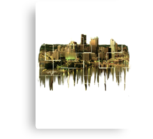 Melting Pittsburgh Canvas Print