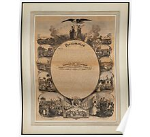 Lipman Emancipation proclamation with narrative pictorial Poster
