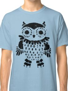 """Owl"" black print Classic T-Shirt"