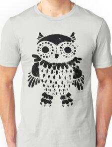 """Owl"" black print Unisex T-Shirt"