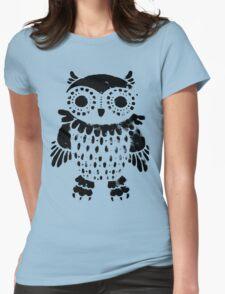 """Owl"" black print T-Shirt"