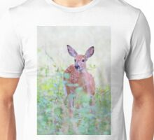 White Tailed Deer Fawn Unisex T-Shirt