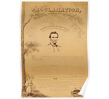 Paine copy of the Emancipation Proclamation. Copy 2 Poster