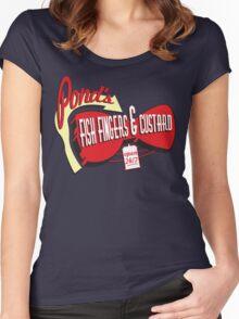Fish Fingers & Custard Women's Fitted Scoop T-Shirt