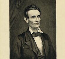 Portrait of Lincoln, artist's proof by Adam Asar