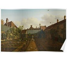 View of a town house garden in The Hague, 1775  Poster