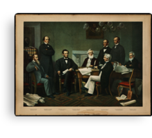Print of Lincoln's cabinet based on Carpenter painting Canvas Print