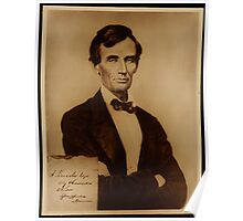 Reproduction print of Lincoln with signature inserted August 13, 1860 Poster
