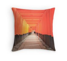 Shrine at Fushimi Throw Pillow