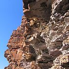 Saqndstone cliffs,  King George River, Kimberleys, WA by Fred1947