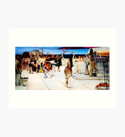A Dedication to Bacchus by Sir Lawrence AlmaTadema Art Print