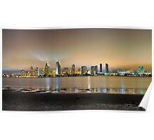 San Diego California Skyline 2 Poster