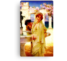 A Difference of Opinion by Sir Lawrence AlmaTadema Canvas Print