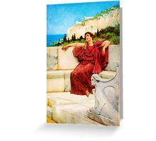 A Female Figure Resting Dolce far Niente by Sir Lawrence AlmaTadema Greeting Card