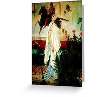 A Greek Woman by Sir Lawrence AlmaTadema Greeting Card