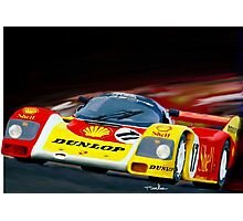 1985 European Racing Porsche 956 Photographic Print