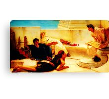 A Reading from Homer  by Sir Lawrence AlmaTadema Canvas Print