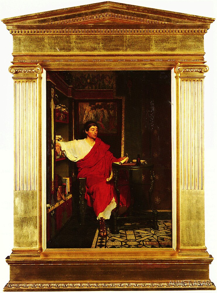 A Roman Scribe Writing Dispatches by Sir Lawrence Alma Tadema by MotionAge Media