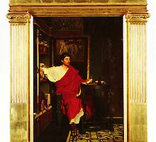 A Roman Scribe Writing Dispatches by Sir Lawrence Alma Tadema by Adam Asar