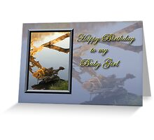 birthday to my Baby Girl Fish Greeting Card