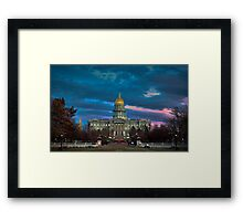 Colorado State Capitol Building at Sunset Framed Print