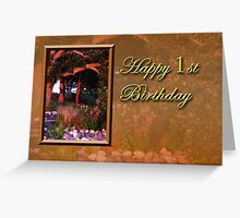 1st Birthday Woods Greeting Card