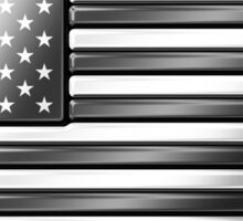 American Flag 2 - USA - Metallic - Steel Sticker