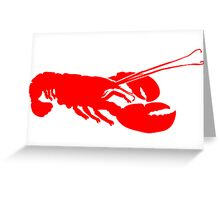Lobster Outline Greeting Card