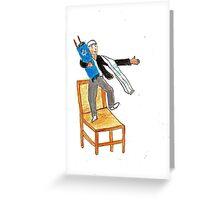 Bar Mitzvah Boy Dancing on a Chair Greeting Card