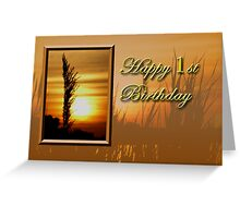 1st Birthday Sunset Greeting Card