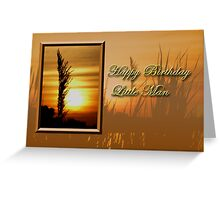 Birthday Little Man Sunset Greeting Card