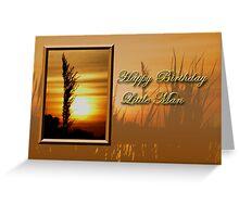 Birthday Little Man Sunset Greeting Card