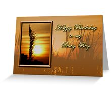 Birthday To My Baby Boy Sunset Greeting Card