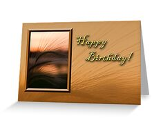 Birthday Grass Sunset Greeting Card