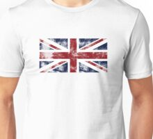 UK Flag - worn Unisex T-Shirt