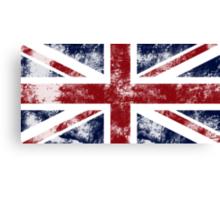 UK Flag - worn Canvas Print
