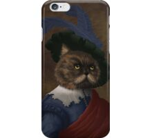 Fancy flat faced Cat Portrait  iPhone Case/Skin
