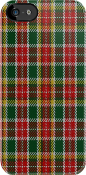 00264 Jacobite Silk Sash Tartan Fabric Print Iphone Case by Detnecs2013