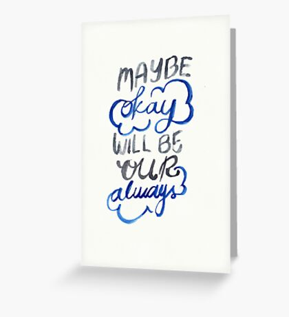 Okay Greeting Card