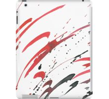 Red Gray Black Watercolor Abstract iPad Case/Skin