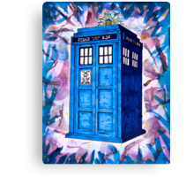 Tardis Splat - Doctor Who Canvas Print