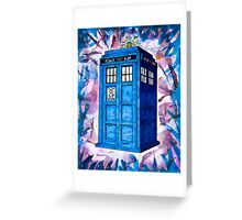 Tardis Splat - Doctor Who Greeting Card